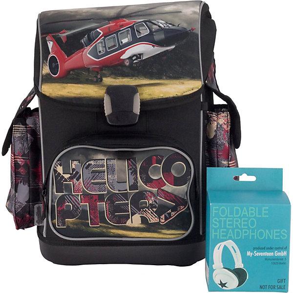 Купить Ранец Seventeen Вертолёт , с наушниками, Китай, серый, Мужской