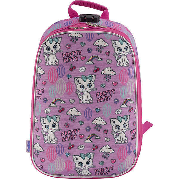 Купить Рюкзак школьный Seventeen Pretty Kitty с кодовым замком + наушники, Китай, розовый, Женский
