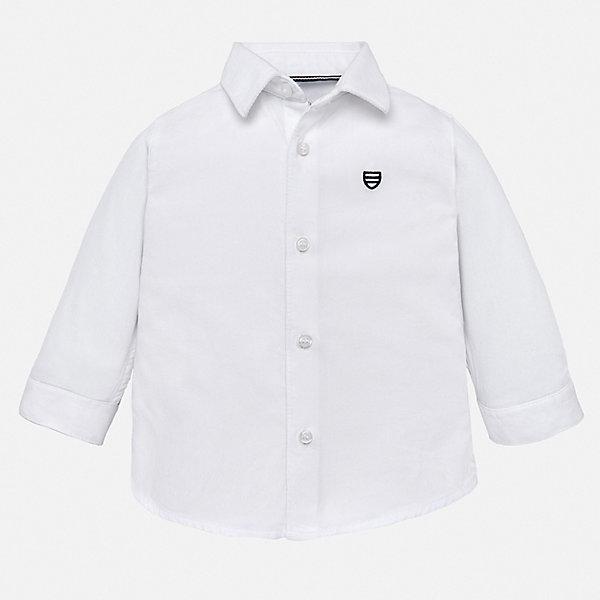 Купить Рубашка Mayoral, Бангладеш, белый, 80, 98, 86, 74, 92, Мужской