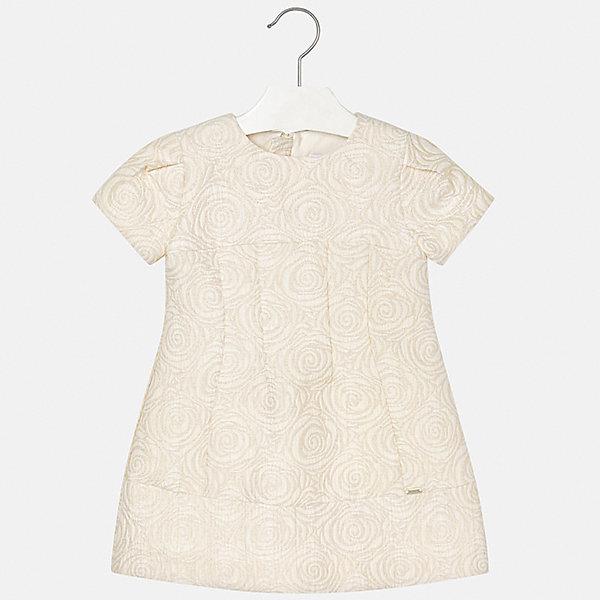Купить Нарядное платье Mayoral, Испания, бежевый, 122, 116, 110, 98, 128, 92, 104, 134, Женский