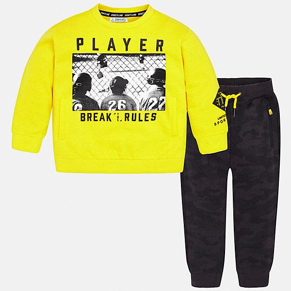 Купить Спортивный костюм Mayoral для мальчика, Китай, желтый, 98, 128, 110, 116, 92, 122, 104, 134, Мужской