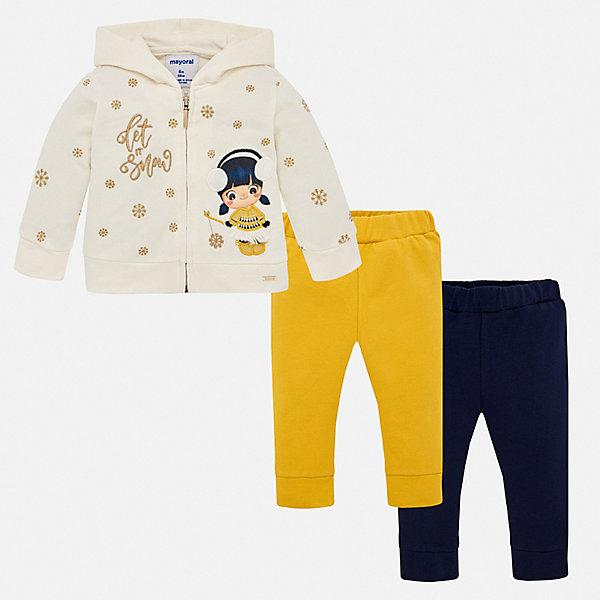 Спортивный костюм Mayoral для девочки, Испания, желтый, 74, 80, 86, 92, 98, Женский  - купить со скидкой