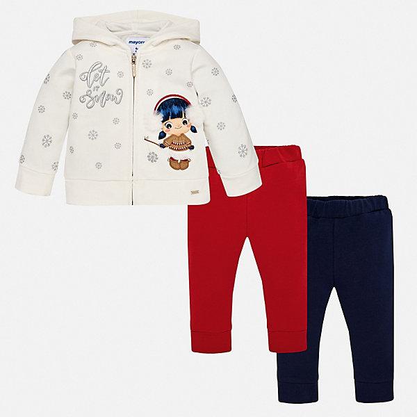 Купить Спортивный костюм Mayoral для девочки, Индия, красный, 86, 92, 98, 80, 74, Женский
