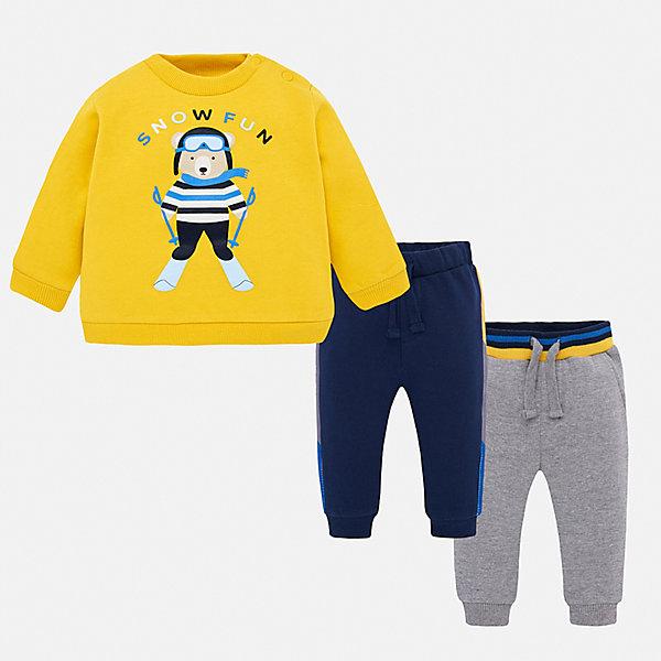 Купить Спортивный костюм Mayoral для мальчика, Испания, желтый, 80, 86, 74, 92, 98, Мужской