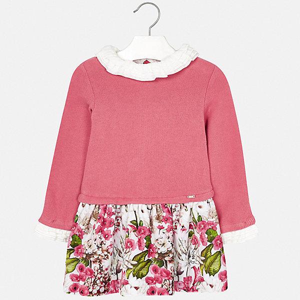 Купить Платье Mayoral для девочки, Испания, розовый, 98, 134, 116, 110, 122, 128, 92, 104, Женский