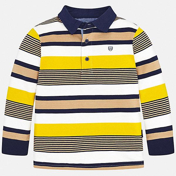 Купить Футболка с длинным рукавом Mayoral для мальчика, Индия, желтый, 104, 134, 92, 110, 128, 98, 122, 116, Мужской