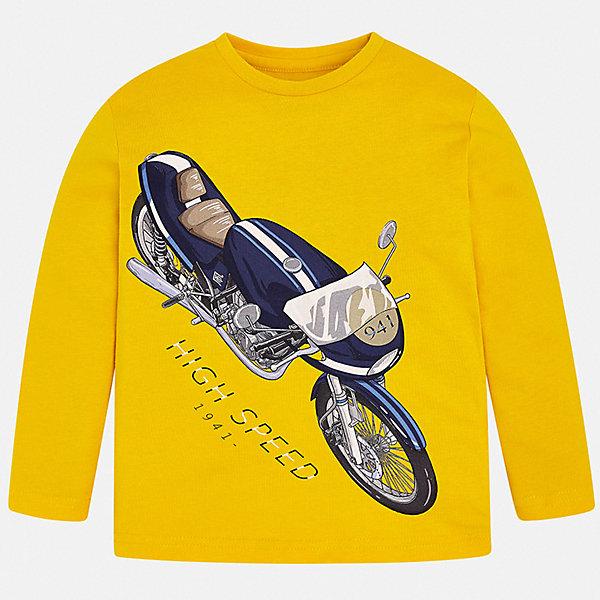 Купить Футболка с длинным рукавом Mayoral для мальчика, Испания, желтый, 128, 92, 122, 134, 98, 110, 116, 104, Мужской