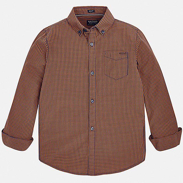 Купить Рубашка Mayoral, Бангладеш, желтый, 128, 161/166, 153/160, 167/172, 134/140, 146/152, Мужской