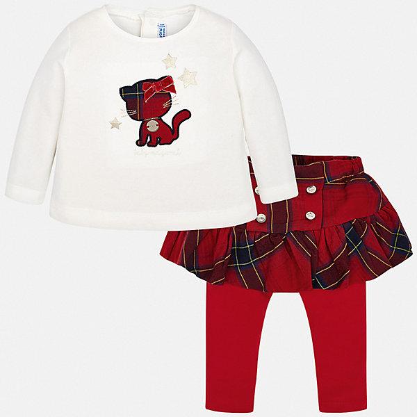Купить Комплект: футболка с длинным рукавом и леггинсы Mayoral для девочки, Испания, красный, 86, 92, 74, 98, 80, Женский