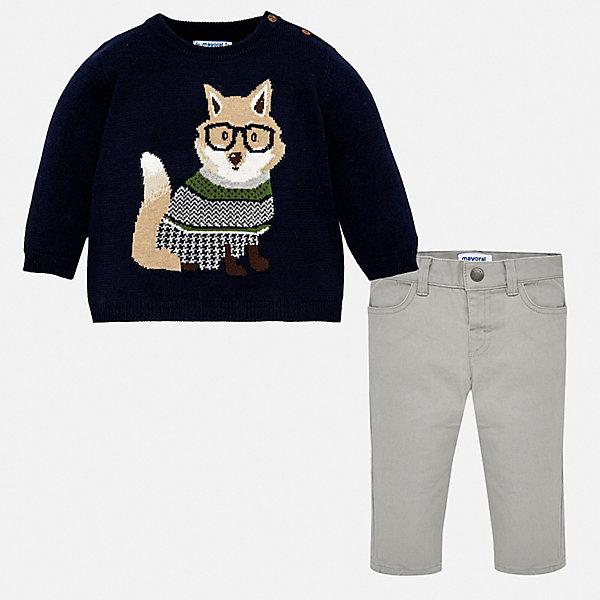 Купить Комплект Mayoral: джемпер и брюки, Китай, синий, 98, 92, 80, 74, 86, Мужской