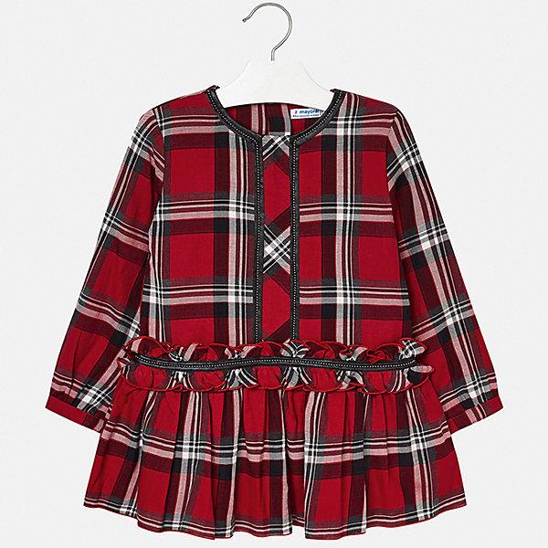Купить Платье Mayoral для девочки, Индия, красный, 116, 104, 122, 110, 128, 98, 92, 134, Женский