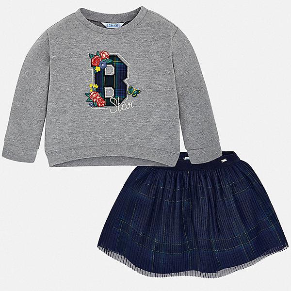Комплект Mayoral: лонгслив и юбка