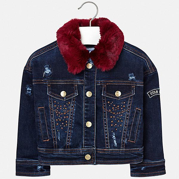 Купить Джинсовая куртка Mayoral, Испания, синий, 122, 110, 128, 134, 116, 92, 98, 104, Женский