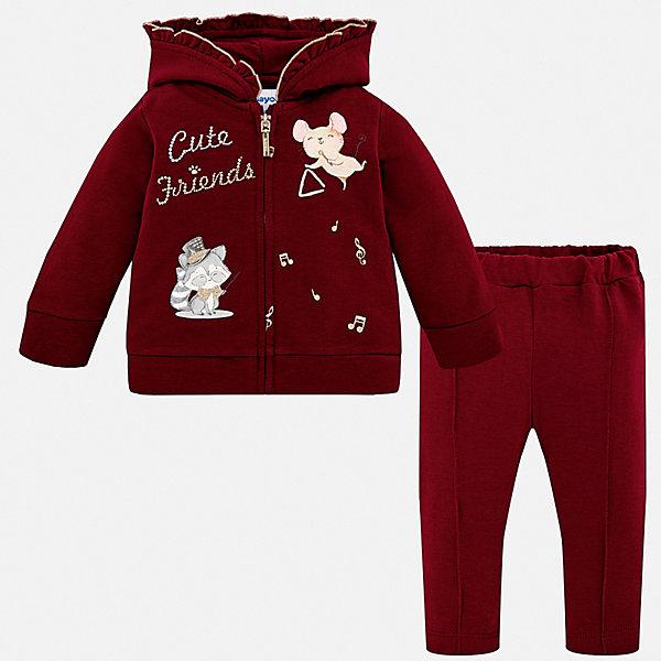 Купить Спортивный костюм Mayoral для девочки, Испания, красный, 98, 74, 92, 80, 86, Женский