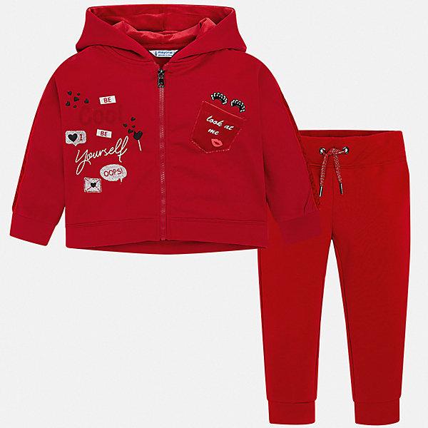 Купить Спортивный костюм Mayoral для девочки, Испания, красный, 116, 122, 110, 128, 92, 104, 134, 98, Женский