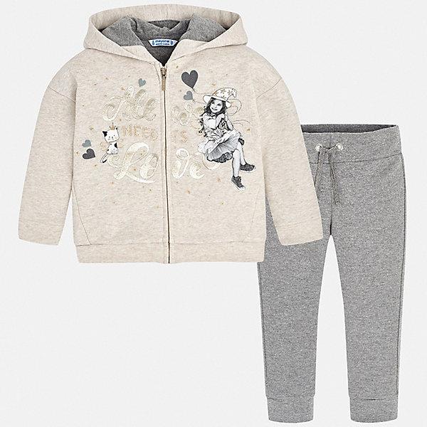 Купить Спортивный костюм Mayoral для девочки, Китай, серый, 134, 122, 104, 128, 98, 110, 116, Женский