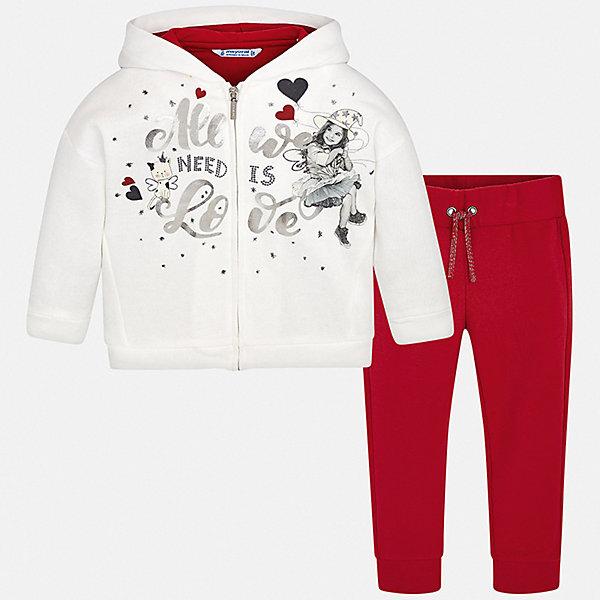 Купить Спортивный костюм Mayoral для девочки, Испания, красный, 128, 134, 110, 98, 122, 104, 116, Женский
