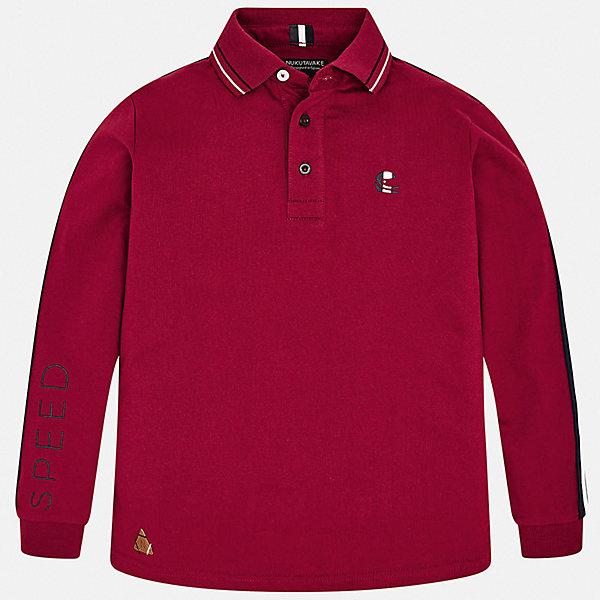 Футболка с длинным рукавом Mayoral для мальчикаФутболки с длинным рукавом<br>Характеристики товара:<br><br>• цвет: красный;<br>• состав ткани: 100% хлопок;<br>• сезон: демисезон;<br>• длинные рукава;<br>• застежка: пуговицы;<br>• страна бренда: Испания.<br><br>Эта рубашка-поло для ребенка совмещает в себе классический силуэт и демократичный декор в спортивном стиле. Модная рубашка-поло для детей легко одевается благодаря удобным застежкам на вороте. Эта детская рубашка-поло с длинным рукавом сделана из дышащего и гипоаллергенного хлопкового материала, простого в уходе, хорошо переносящего стирки. Детская одежда от испанского бренда Mayoral завоевала популярность во многих странах благодаря отличному качеству вещей, а также их стильному и оригинальному дизайну.