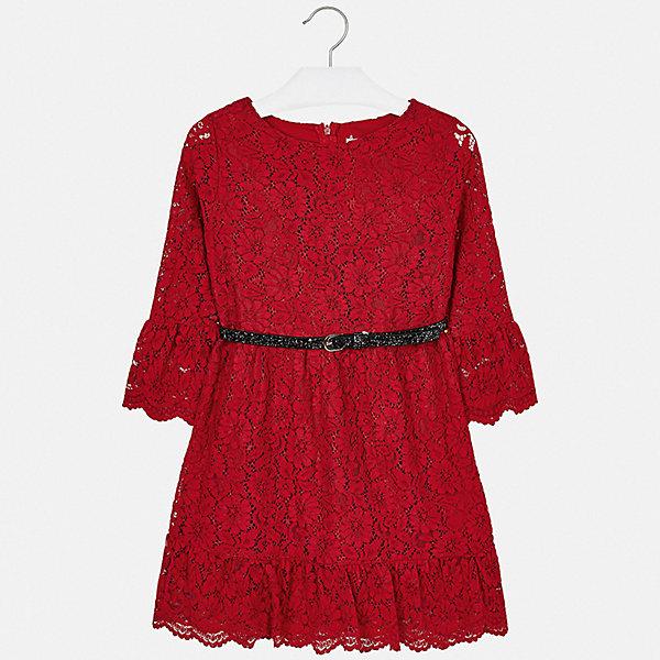 Купить Платье Mayoral для девочки, Испания, красный, 134/140, 163/167, 146/152, 153/157, 128, 158/162, Женский