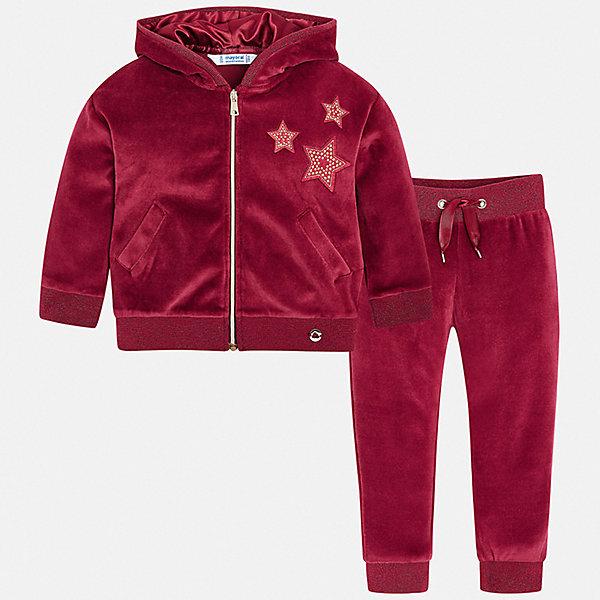 Купить Спортивный костюм Mayoral для девочки, Испания, красный, 116, 104, 134, 128, 122, 98, 110, 92, Женский