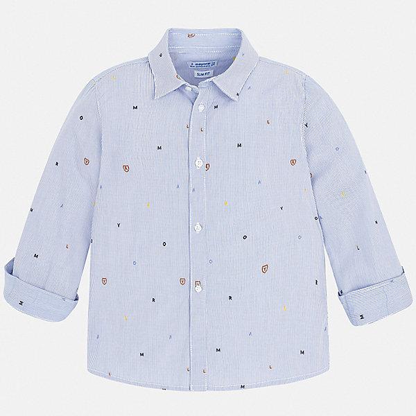 Mayoral Рубашка Mayoral для мальчика рубашка с рисунком сзади 3 12 лет