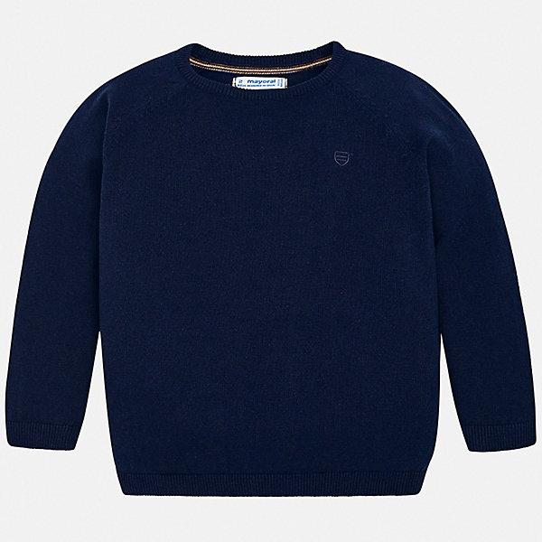 Свитер Mayoral для мальчикаСвитеры и кардиганы<br>Характеристики товара:<br><br>• состав ткани: 82% хлопок, 18% полиамид;<br>• сезон: демисезон;<br>• длинные рукава;<br>• страна бренда: Испания.<br><br>Детская одежда от популярной марки Mayoral разработана с учетом последних тенденций в молодежной европейской моде, она сделана из качественного материала и фурнитуры. Этот детский свитер дополнен эластичной отделкой краёв изделия, узкой вязаной резинкой, это обеспечивает красивую и комфортную посадку изделия. Свитер для ребенка от Mayoral - это универсальная удобная одежда для прохладной погоды, которая еще и модно смотрится. Детский свитер сделан преимущественно из натурального материала, синтетические нити в его составе позволяют ткани хорошо сохранять форму и цвет.