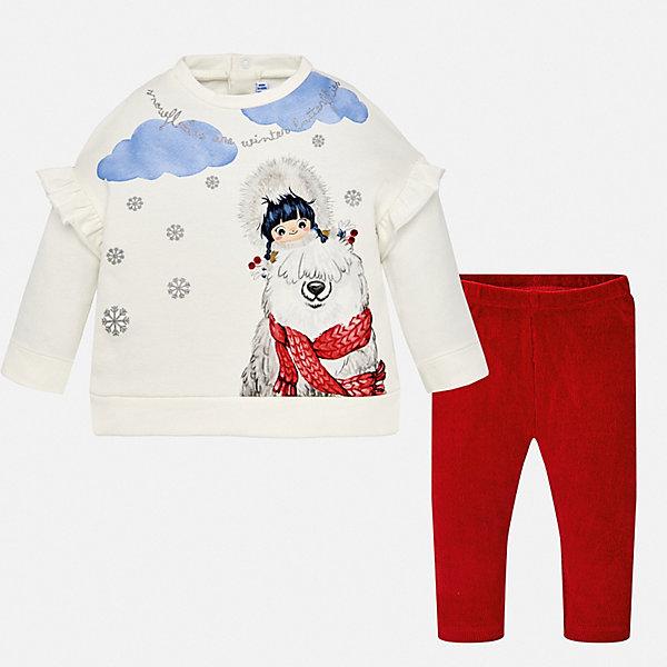 Фотография товара комплект: футболка с длинным рукавом и леггины Mayoral для девочки (8849661)