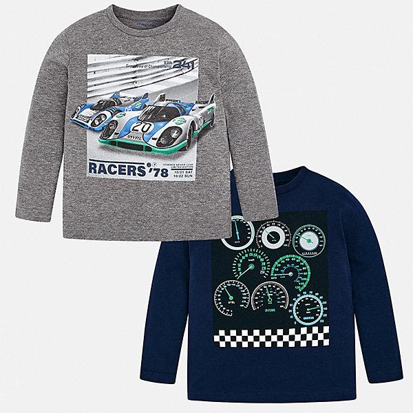 Mayoral Комплект: футболка с длинным рукавом 2 шт. Mayoral для мальчика комбинезоны и полукомбинезоны папитто комплект полукомбинезонов 2 шт