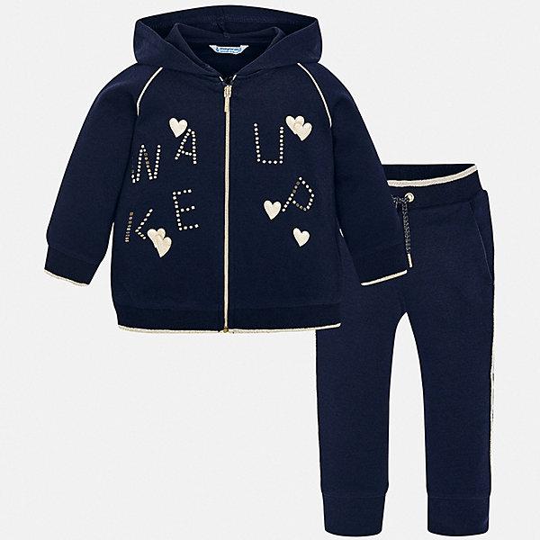Купить Спортивный костюм Mayoral для девочки, Испания, синий, 128, 92, 110, 122, 134, 116, 98, 104, Женский