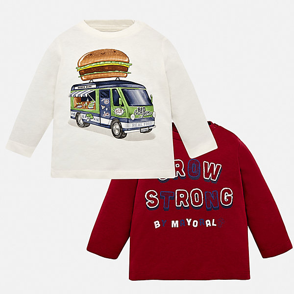 Mayoral Комплект: 2 футболки Mayoral для мальчика mayoral mayoral комплект две футболки красный