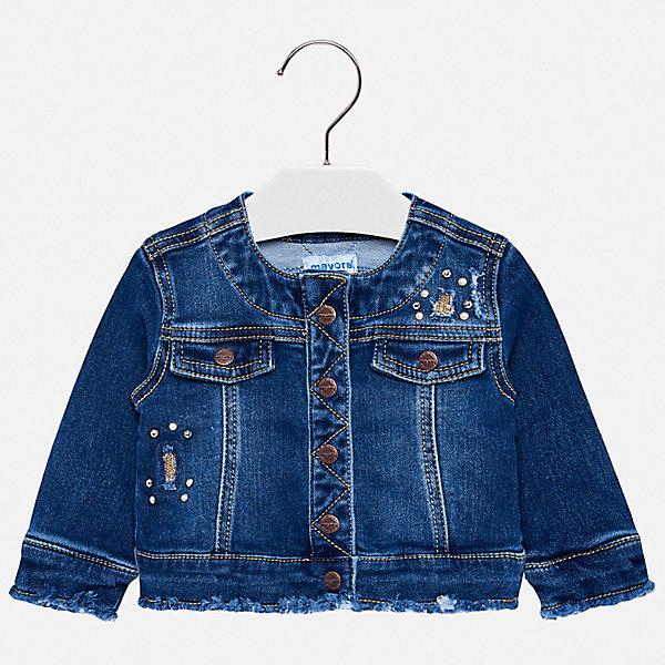 Купить Джинсовая куртка Mayoral, Испания, синий, 80, 86, 98, 92, Женский