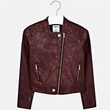 Кожаная куртка Mayoral, цвет красный