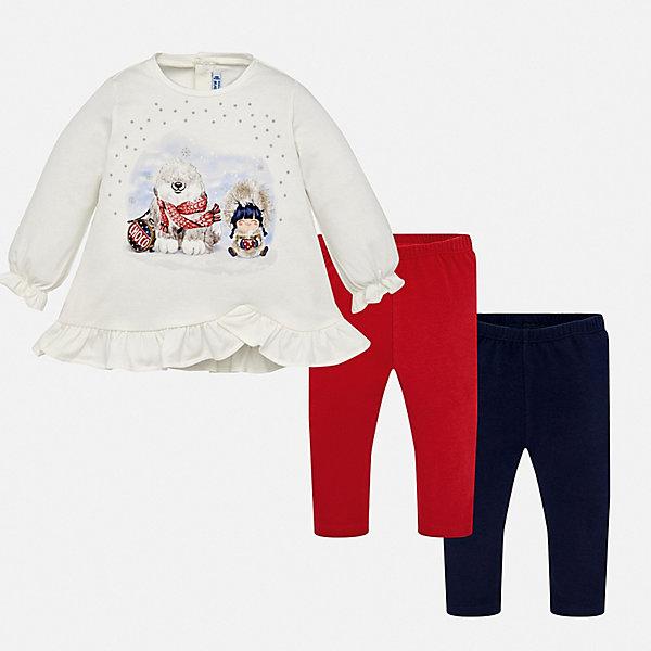 Фотография товара комплект: футболка с длинным рукавом и леггины 2 шт. Mayoral для девочки (8849928)