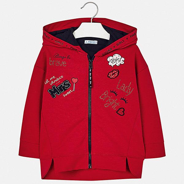 Купить Куртка Mayoral для девочки, Турция, красный, 110, 128, 116, 122, 92, 134, 104, 98, Женский