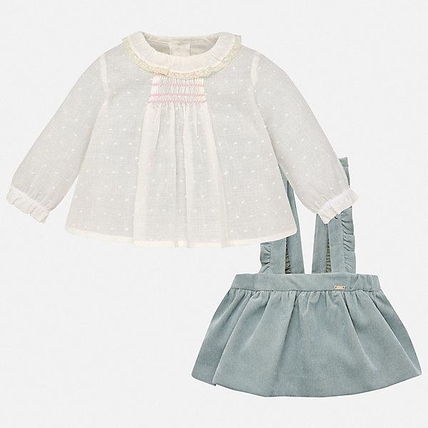 Купить Комплект: блузка и юбка Mayoral для девочки, Марокко, зеленый, 86, 98, 74, 92, 80, Женский