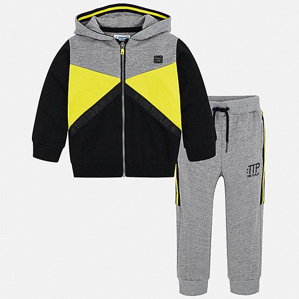 Купить Спортивный костюм Mayoral для мальчика, Китай, желтый, 128, 122, 92, 110, 116, 98, 134, 104, Мужской