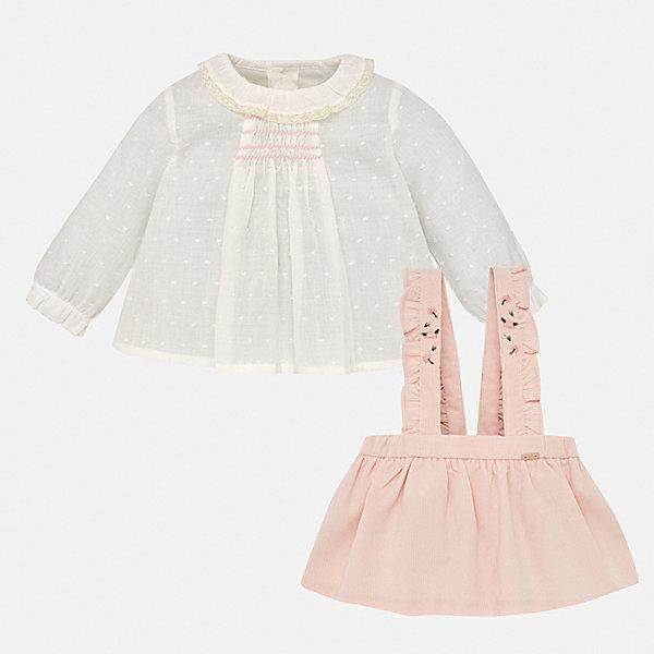 Купить со скидкой Комплект: блузка и юбка Mayoral для девочки