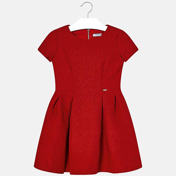Купить Платье Mayoral для девочки, Испания, красный, 134/140, 158/162, 146/152, 163/167, 153/157, 128, Женский