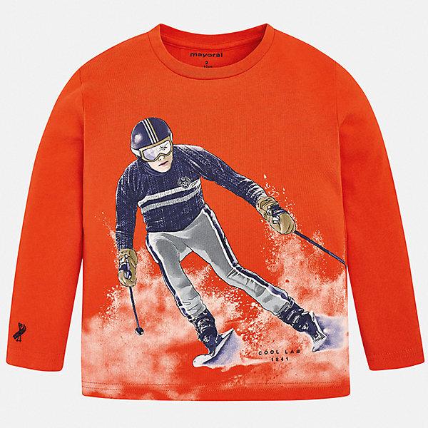 Mayoral Футболка с длинным рукавом Mayoral для мальчика mayoral mayoral футболка с рисунком голубая