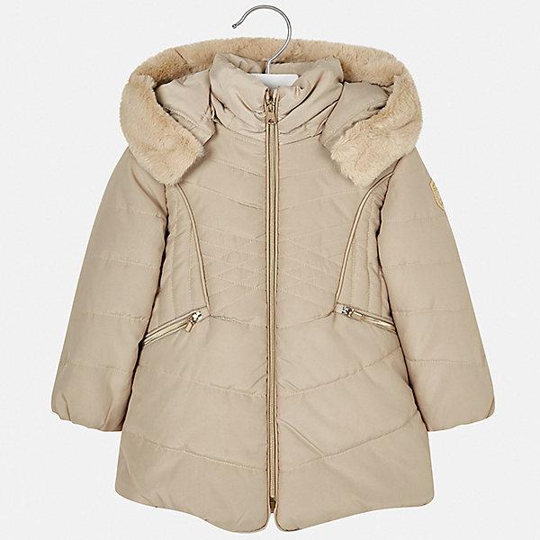 Купить Куртка Mayoral для девочки, Испания, бежевый, 104, 128, 116, 98, 134, 92, 122, 110, Женский