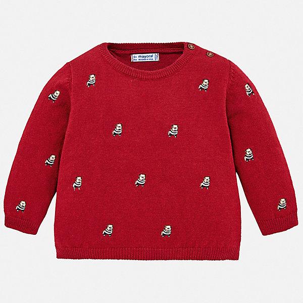Свитер Mayoral для мальчикаТолстовки, свитера, кардиганы<br>Характеристики товара:<br><br>• состав ткани: 60% хлопок, 30% полиамид, 10% шерсть;<br>• сезон: демисезон;<br>• длинные рукава;<br>• застежка: пуговицы;<br>• страна бренда: Испания.<br><br>Детская одежда от популярной марки Mayoral разработана с учетом последних тенденций в молодежной европейской моде, она сделана из качественного материала и фурнитуры. Этот детский свитер дополнен эластичной отделкой краёв изделия, узкой вязаной резинкой, это обеспечивает красивую и комфортную посадку изделия. Свитер для ребенка от Mayoral - это универсальная удобная одежда для прохладной погоды, которая еще и модно смотрится. Детский свитер сделан преимущественно из натурального материала, синтетические нити в его составе позволяют ткани хорошо сохранять форму и цвет.