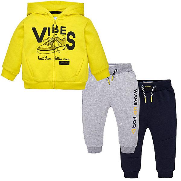 Купить Спортивный костюм Mayoral для мальчика, Китай, желтый, 86, 92, 98, 80, 74, Мужской