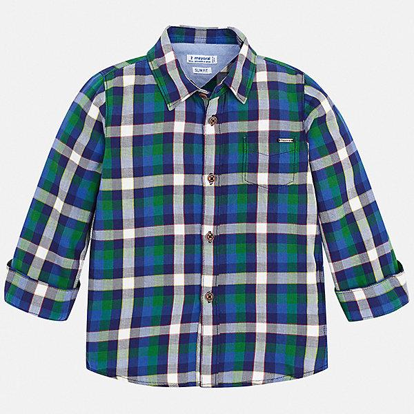 Mayoral Рубашка Mayoral для мальчика ostin рубашка в клетку из твила
