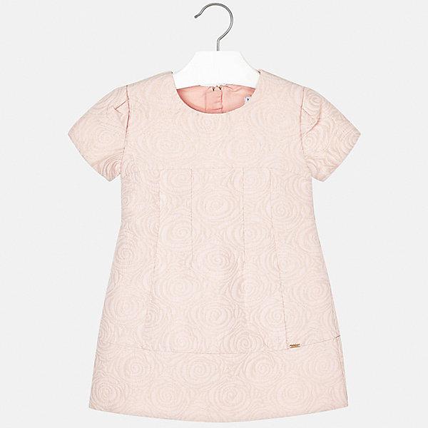 Купить Платье Mayoral для девочки, Испания, бежевый, 122, 116, 110, 92, 98, 104, 134, 128, Женский
