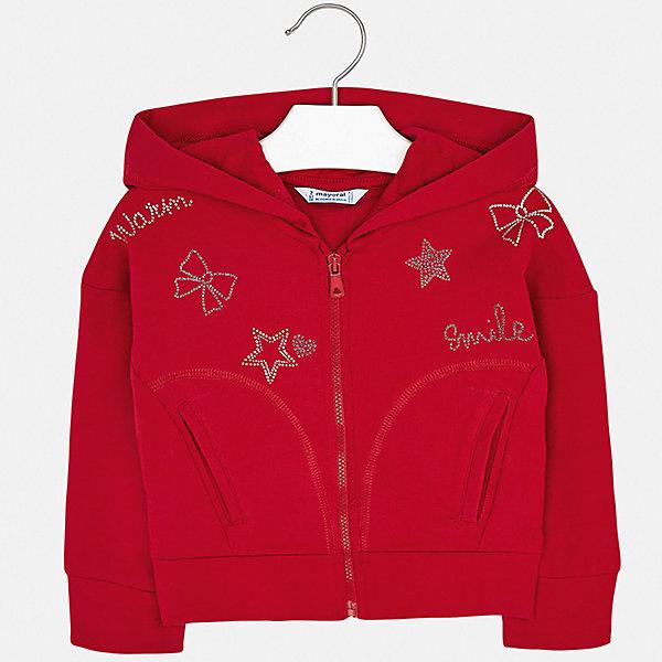 Купить Толстовка Mayoral для девочки, Испания, красный, 92, 98, 104, 116, 110, 128, 134, 122, Женский