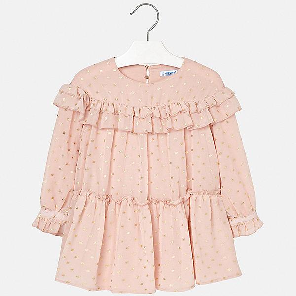 Купить Платье Mayoral для девочки, Китай, бежевый, 110, 128, 98, 134, 116, 104, 122, 92, Женский