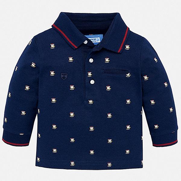 Футболка с длинным рукавом Mayoral для мальчикаКофточки и распашонки<br>Характеристики товара:<br><br>• состав ткани: 100% хлопок;<br>• сезон: демисезон;<br>• длинные рукава;<br>• застежка: пуговицы;<br>• страна бренда: Испания.<br><br>Рубашка-поло для ребенка - это классика и стиль одновременно. Хлопковая рубашка-поло для детей легко одевается благодаря удобным застежкам на вороте. Эта детская рубашка-поло с длинным рукавом сделана из дышащего и гипоаллергенного хлопкового материала, простого в уходе, хорошо переносящего стирки. Детская одежда от испанского бренда Mayoral завоевала популярность во многих странах благодаря отличному качеству вещей, а также их стильному и оригинальному дизайну.