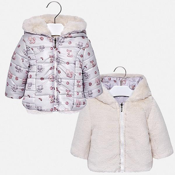 Mayoral Куртка двусторонняя Mayoral для девочки куртка двусторонняя lily thermo
