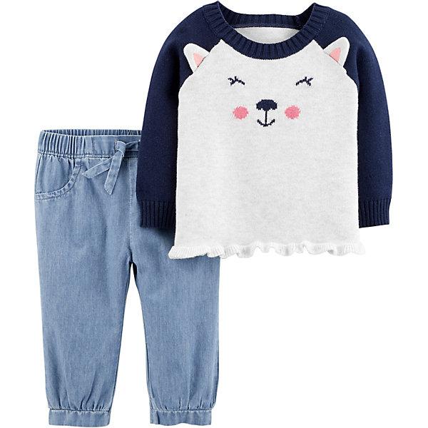 Комплект: Толстовка и джинсы Carter's для девочки Carter`s