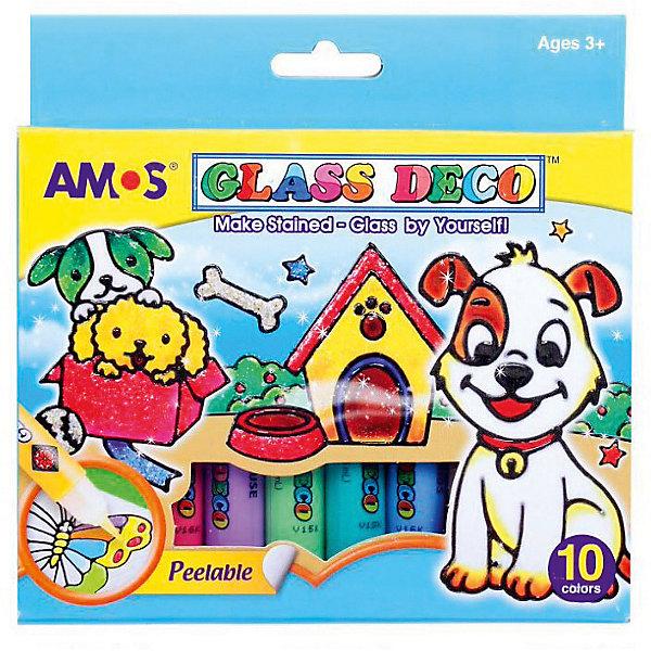 Amos Набор витражных красок Amos, 10 цветов amos набор витражных красок amos 10 цветов